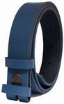 30mm Blue Snap Fit Leather Belt